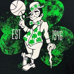 Celtics leprechaun unique black tee